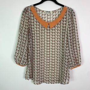 Daniel Rainn Blouse Top Women's Size Small Humming